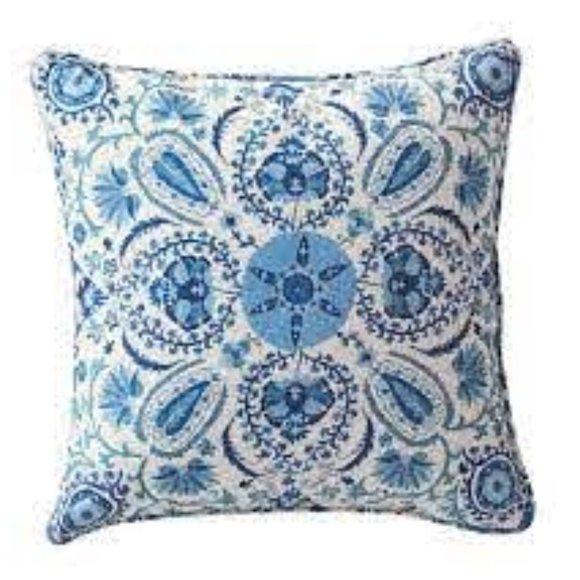 "Pottery Barn Adya Suzani Print Pillow Cover 20"""